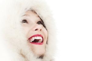 rosto feminino inverno